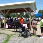 We host an annual Block Party in our New Picnic Shelter!